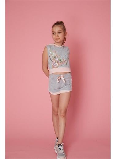 Little Star Little Star Kız Çocuk Müzik Sweatshirt Gri